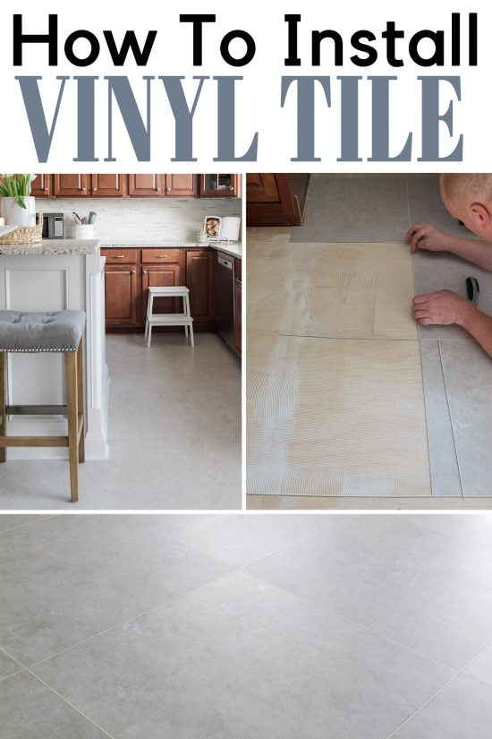 installing groutable vinyl tile an
