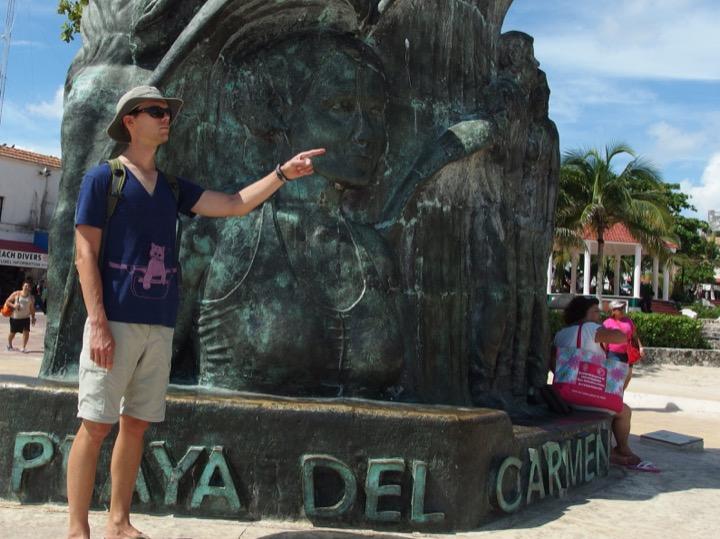 Playa del Carmen Statue