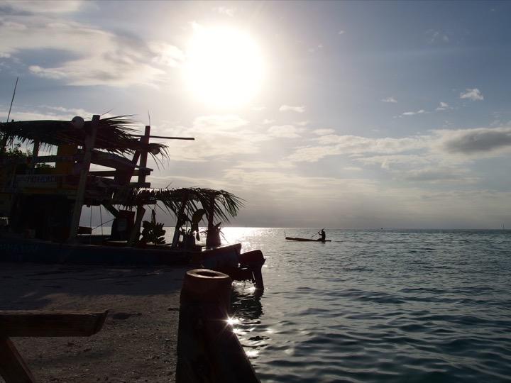 Caye Caulker boat sunset