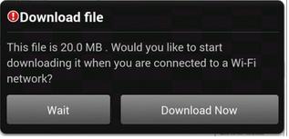 Opera Mini 9.6 with wifi queue downloading
