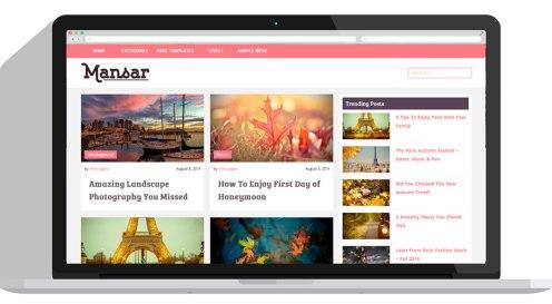 Mansar WordPress blog theme