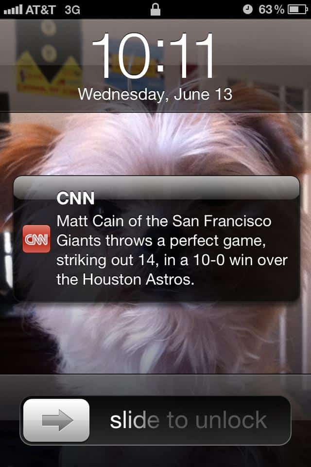 Giants Matt Cain perfect game