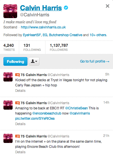 Calvin Harris kicked out of Tryst