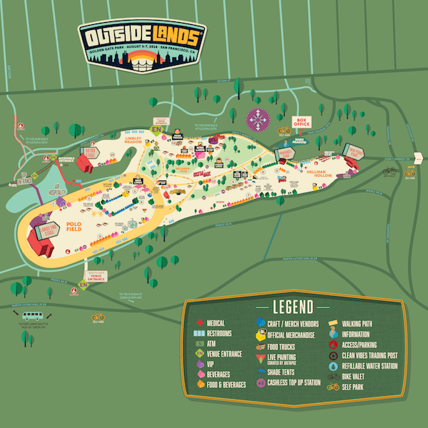 Outside Lands Music Festival Map 2016
