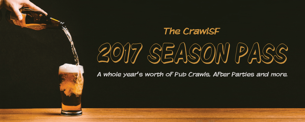San Francisco Pub Crawls 2017 Season Pass