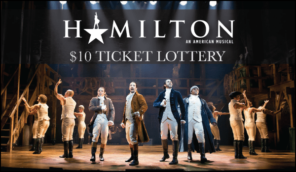 Hamilton San Francisco Tickets Lottery $10