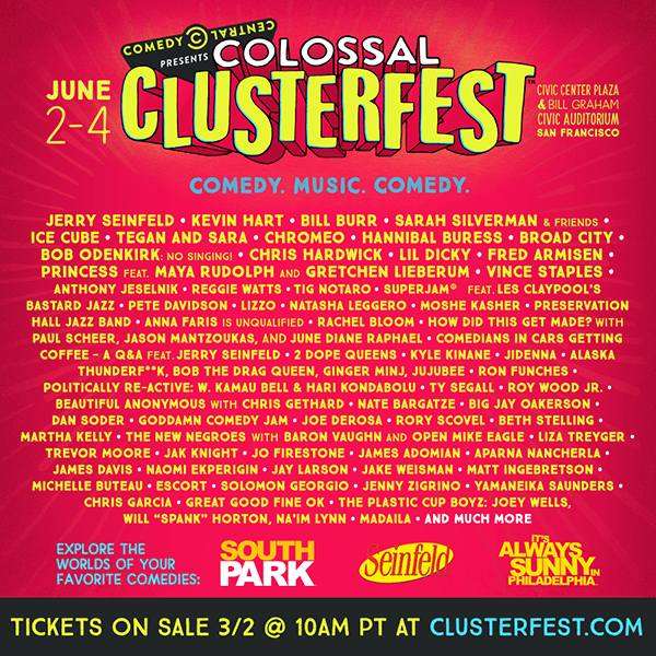 Comedy Clusterfest San Francisco Lineup