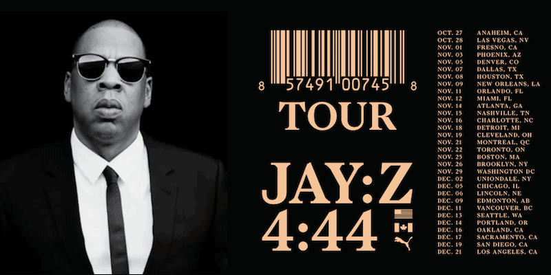 Jay Z 4:44 Tour Tickets Oracle Arena