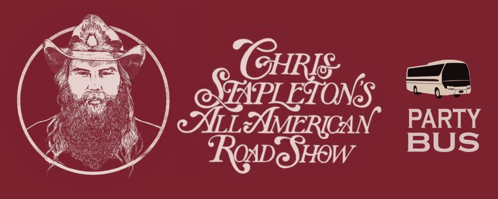 Chris Stapleton Party Bus to Shoreline Amphitheater