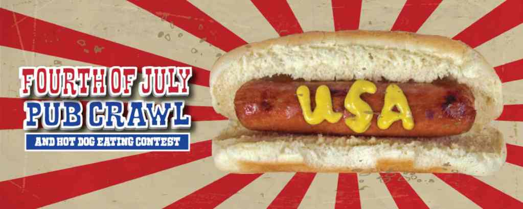 San Francisco 4th of July Pub Crawl + Hot Dog Eating Contest
