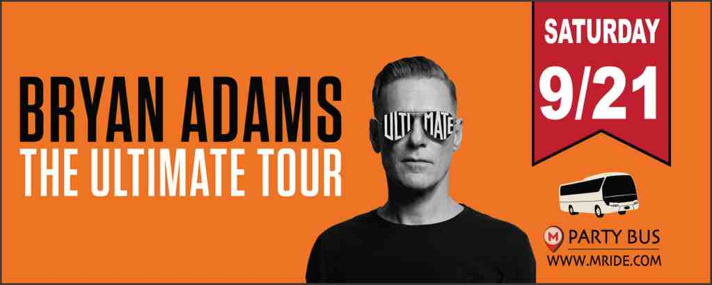 Bryan Adams Shoreline Amphitheater Shuttle Bus