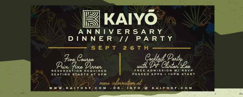 Kaiyō's One Year Anniversary Party