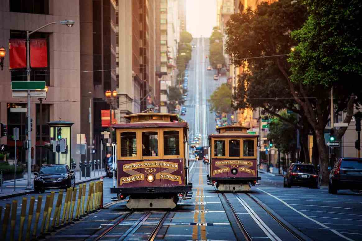Cable Cars in San Francisco, California