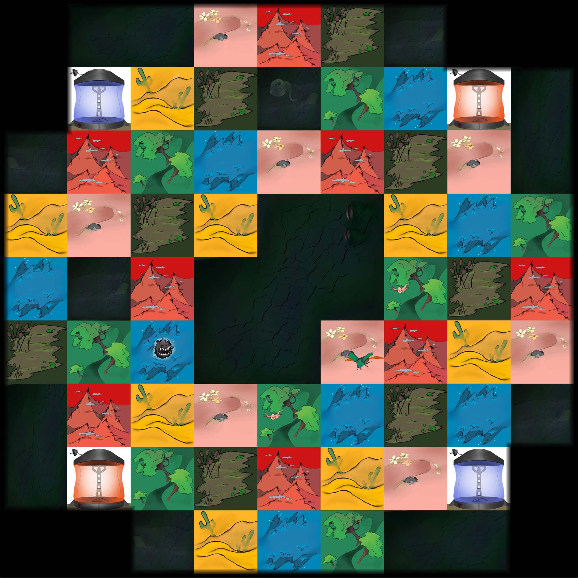 Fantasy Turf Wars board game