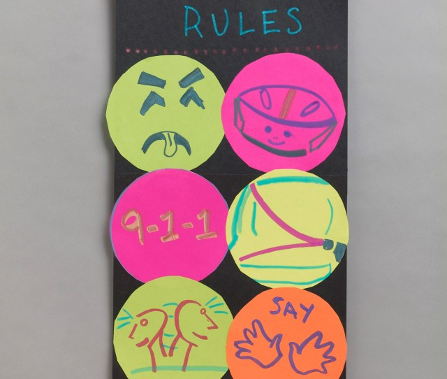 Family Safety Rules Poster Crayola Be