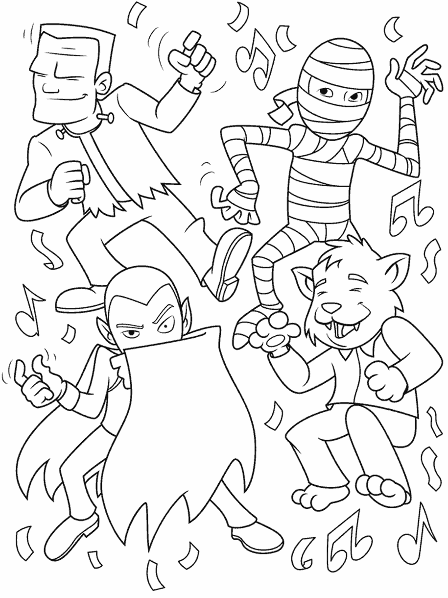 Monster Dance Party Coloring Page Crayola Com