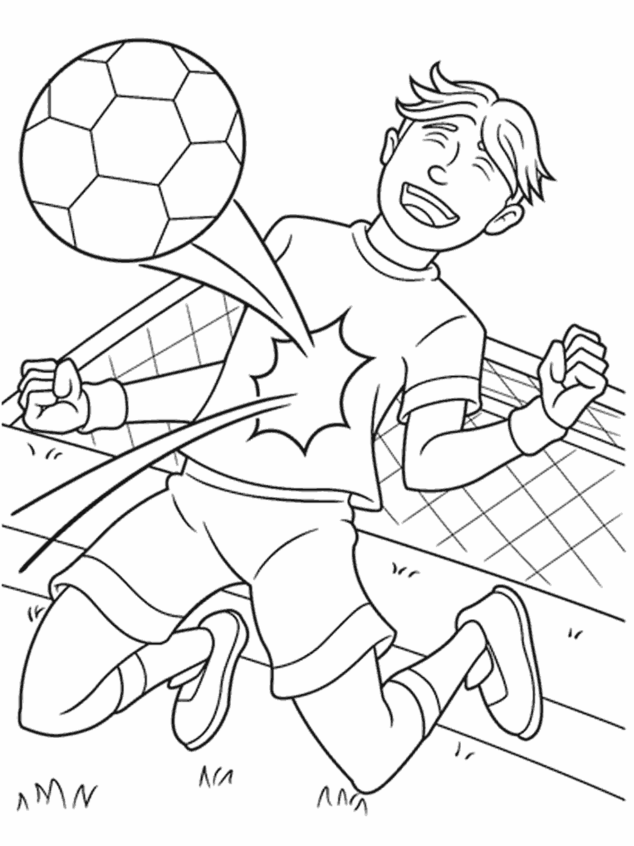 Soccer Player Coloring Page Crayola Com