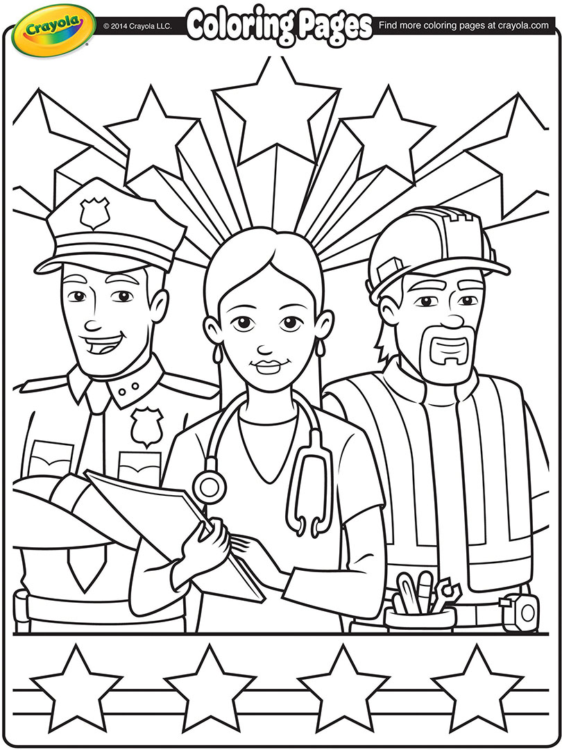 Careers Free Coloring Pages Crayola Com