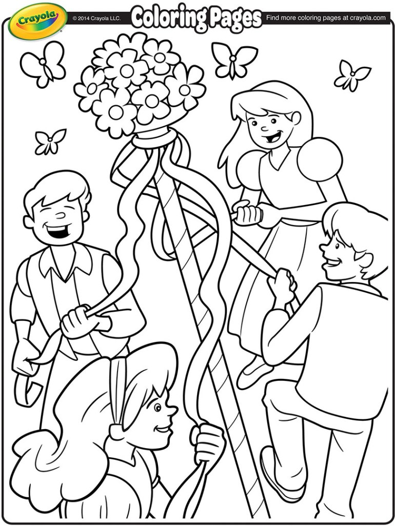 May Day Maypole Coloring Page   crayola.com   non printable coloring pages online free
