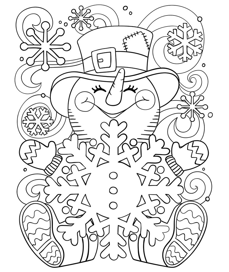 Winter Free Coloring Pages Crayola Com