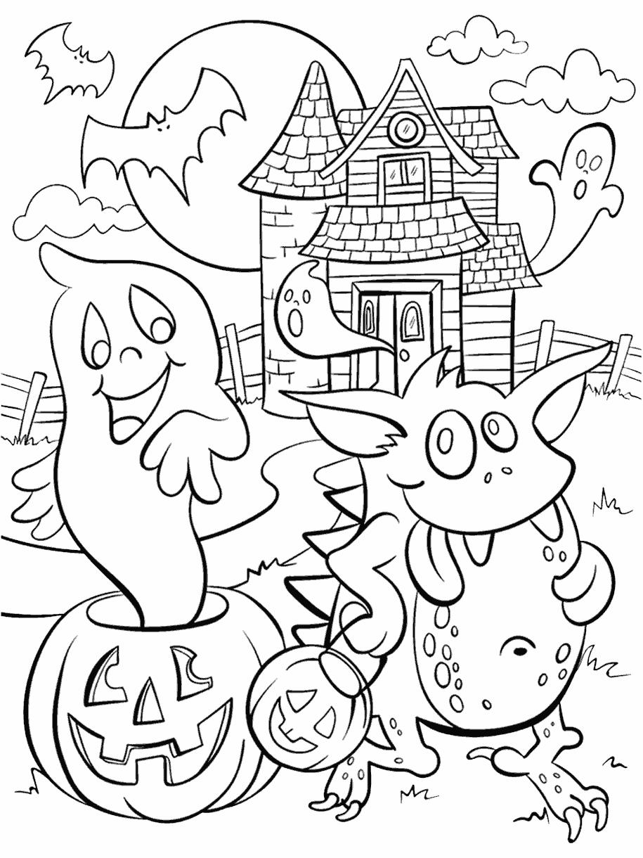 Haunted House Coloring Page Crayola Com