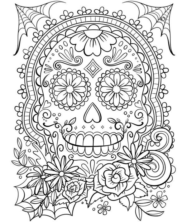 skulls coloring pages # 6