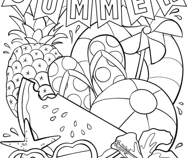 Hello Summer Coloring Page Crayola Com