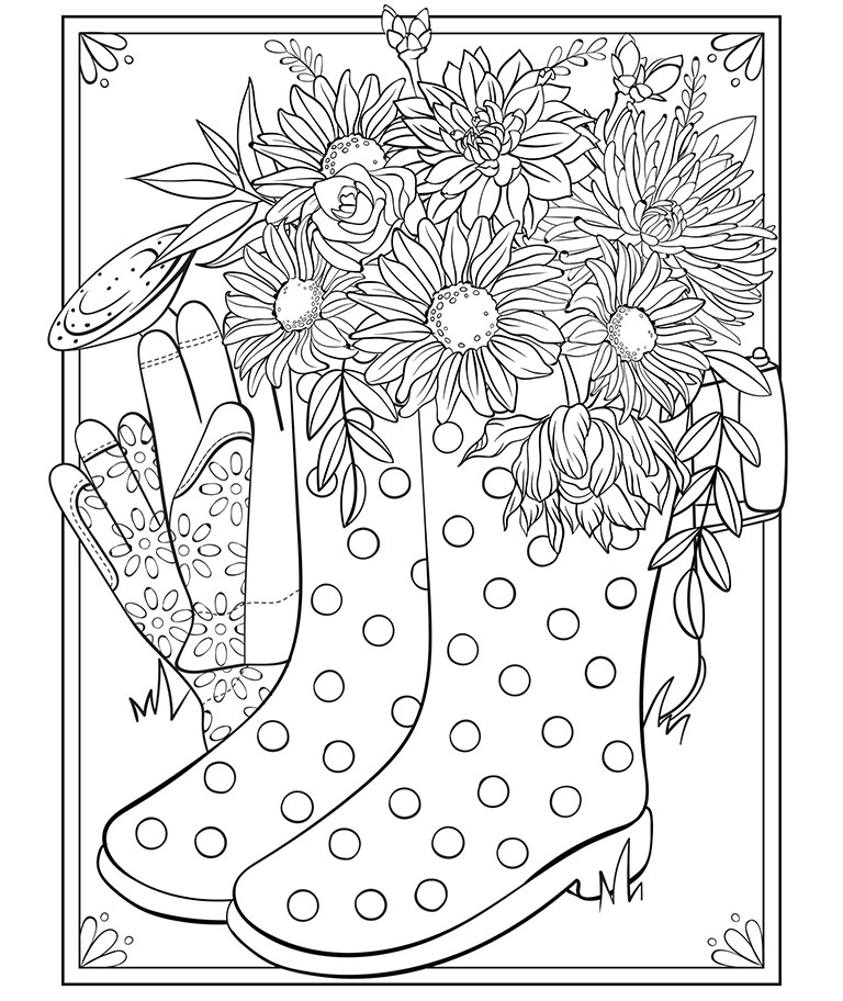 Spring Boots Coloring Page