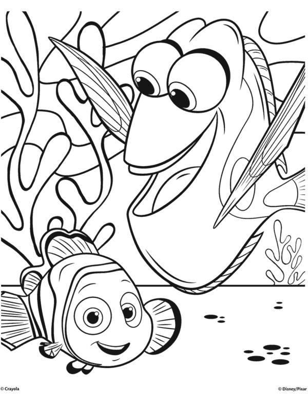 finding nemo coloring page # 0