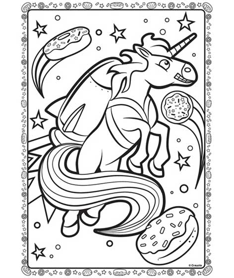 Unicorn In Space Coloring Page Crayola Com