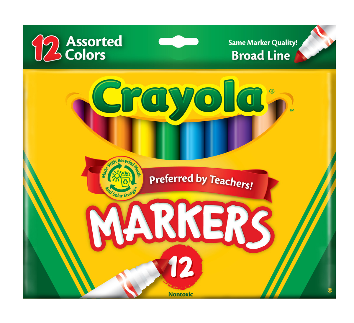 about broad line markers assorted colors 12 ct