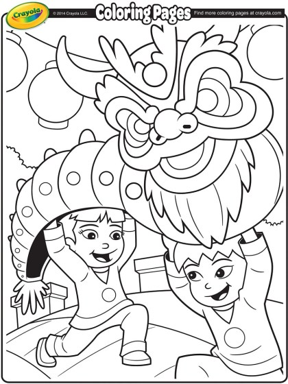 chinese new year dragon coloring page crayola com
