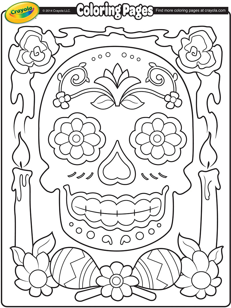 Free Worksheet Dia De Los Muertos Worksheets mexican day of the dead coloring pages dia de los muertos page crayola com