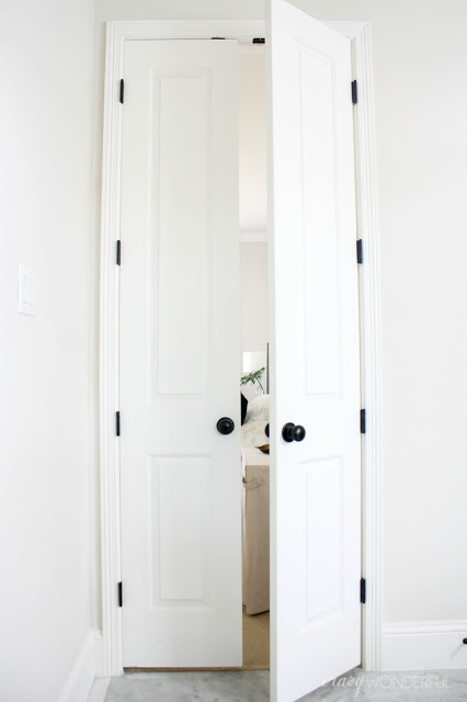 Captivating Black Door Hinges Installed