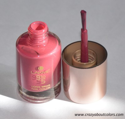 lakme 9 to 5 nail color in berry