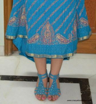 OOTD Blue skirt (Rakhi Special)