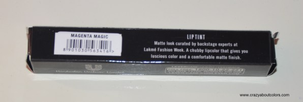 lakme absolute lip tint matte in magenta magic
