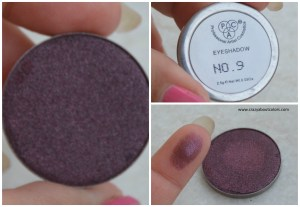 PAC Cosmetics sparkle eyeshadows 9