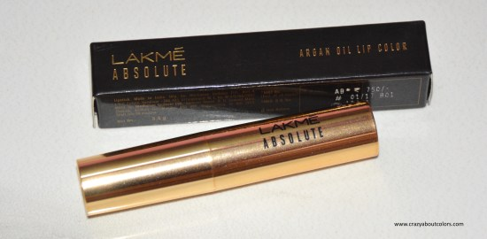 Lakme Absolute Argan Oil Lip Color: Silky Blush (11)
