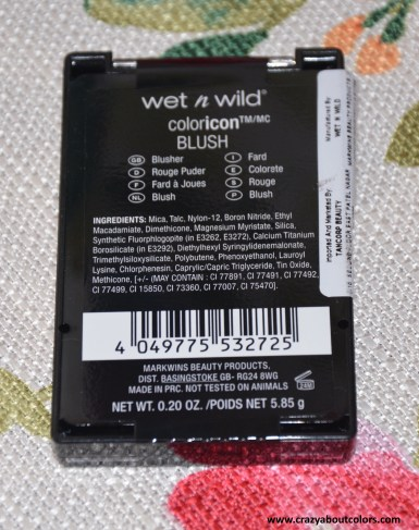 Wet n Wild Color Icon Blush Apri-Cot In The Middle