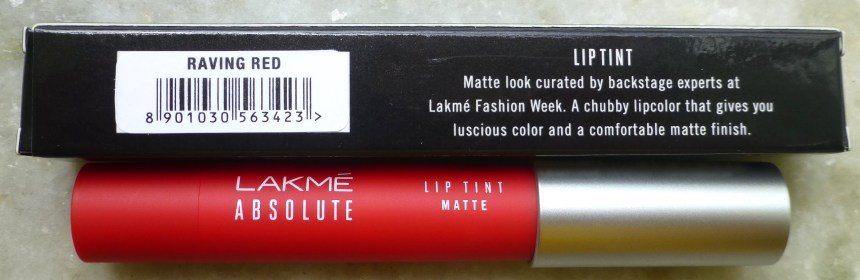 Lakme Absolute Lip Pout Lip Tint Matte Raving Red