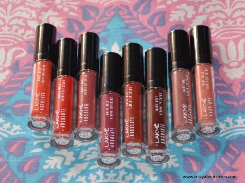 Lakme Absolute Matte Melt Liquid Lip Color Full Collection Lip Swatches