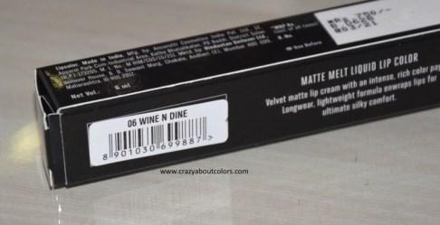 Lakme Absolute Matte Melt Liquid Lip Color Wine n Dine