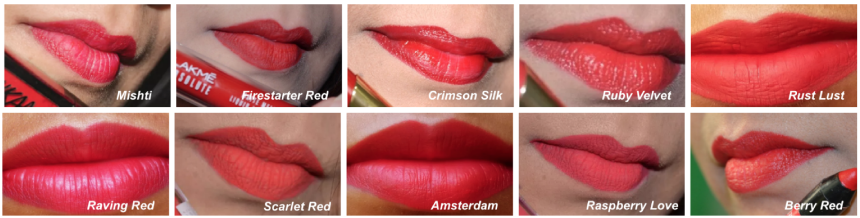 Red Lipsticks