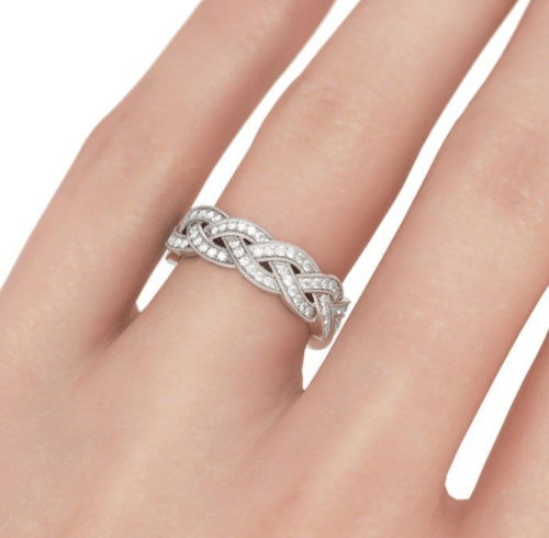 Jeulia Dazzling Wedding Bands