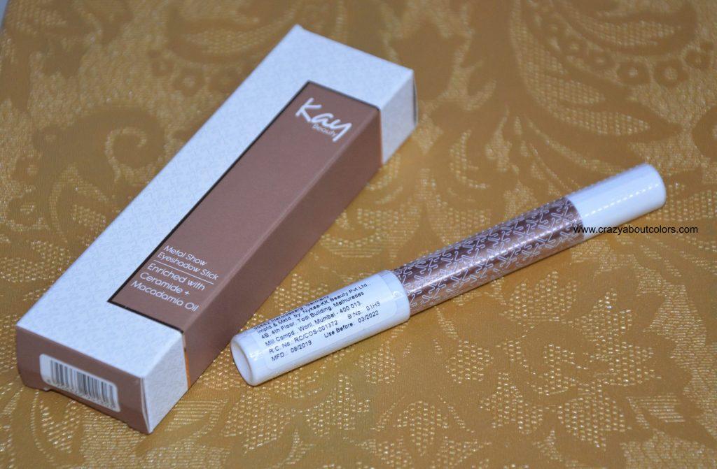 Kay Beauty metallic Eyeshadow Stick Bare Metal