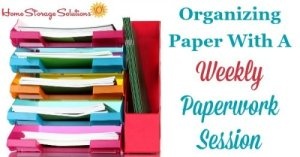 Swamped by paper clutter? Here's a roundup of 7 excellent solutions to managing and organizing your papers. Click through to read more or pin now and read later.