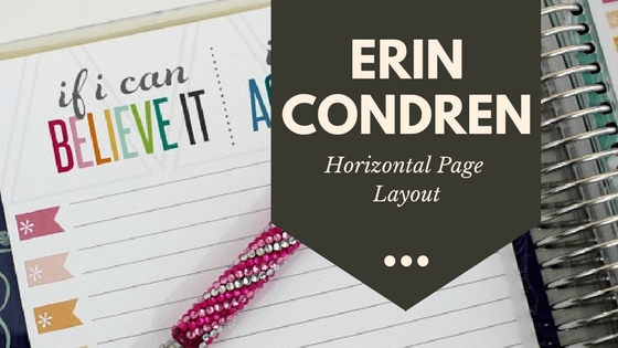 A Look inside the Erin Condren Life Planner: Horizontal Layout