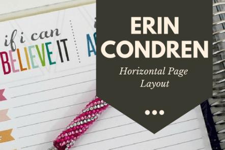 Erin Condren Planner. Horizontal Layout #planner