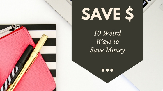 Here are ten weird ways to save money. Here are a few money saving tips you might not have thought of. Click through to read more or pin now and read later.